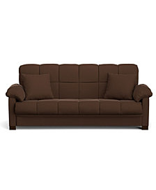 Maurice Convert-a-Couch in Brown Microfiber