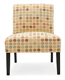 Noah Armless Chair in Beige Retro Dot Fabric