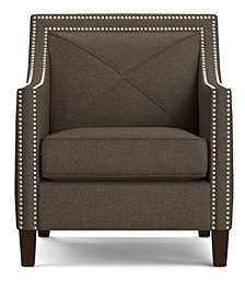 Ruben Arm Chair in Brown Linen