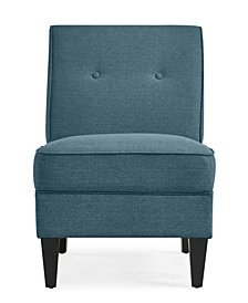 George Chair in Blue Linen