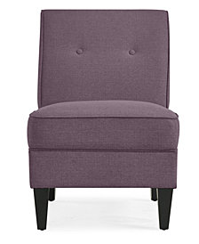 George Chair in Purple Linen