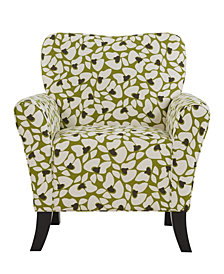 Sean Chair in Green Modern Floral