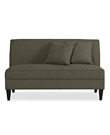 Trilby Armless Loveseat in Basil Gray Linen