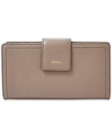 Fossil Logan Leather Tab Clutch Wallet