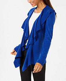 Karen Scott Ruffled Cardigan, Created for Macy's
