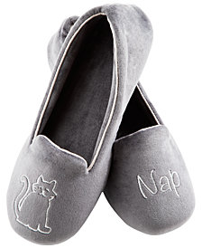 Isotoner Signature Women's Velour Conversational Slippers with Memory Foam