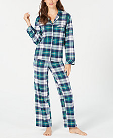 Matching Family Pajamas Women's Mackenzie Plaid Pajama Set, Created for Macy's