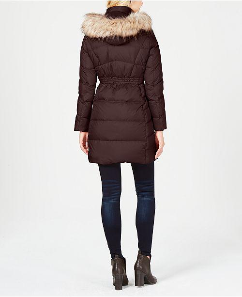 b800beb774aab2 Calvin Klein Faux-Fur-Trim Puffer Coat & Reviews - Coats - Women ...