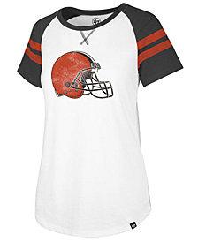 '47 Brand Women's Cleveland Browns Flyout Raglan T-Shirt