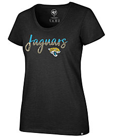 '47 Brand Women's Jacksonville Jaguars Sparkle Dip Club Scoop T-Shirt