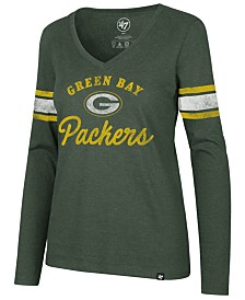 '47 Brand Women's Green Bay Packers Spirit Script Long Sleeve T-Shirt