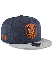 New Era Chicago Bears On Field Sideline Road 9FIFTY Snapback Cap