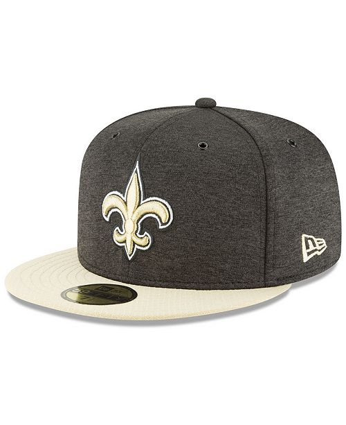8cd4539fd ... New Era New Orleans Saints On Field Sideline Home 59FIFTY FITTED Cap ...