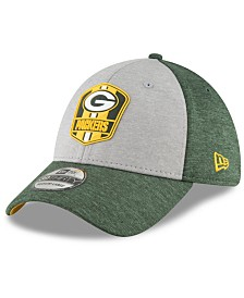 New Era Green Bay Packers On Field Sideline Road 39THIRTY Stretch Fitted Cap