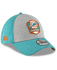 New Era Miami Dolphins On Field Sideline Road 39THIRTY Stretch Fitted Cap