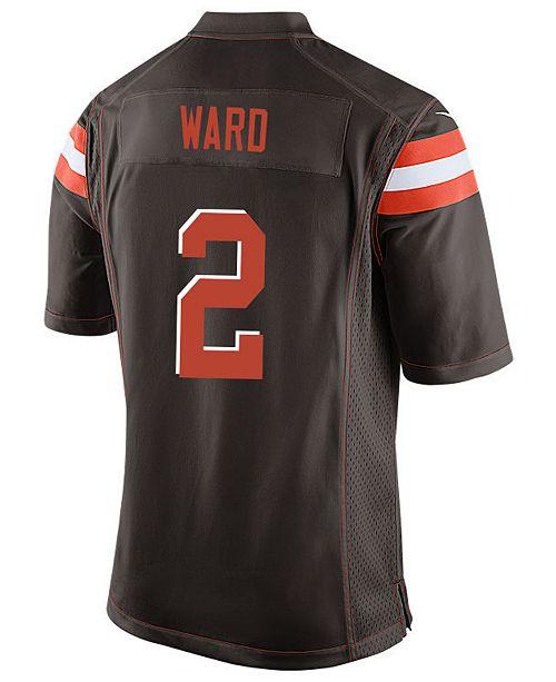 3189f0616 Nike Men s Denzel Ward Cleveland Browns Game Jersey - Sports Fan ...