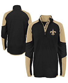 Outerstuff New Orleans Saints Beta Quarter-Zip Top, Big Boys (8-20)