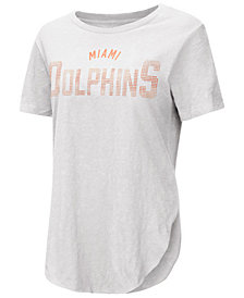 Touch by Alyssa Milano Women's Miami Dolphins Touch Rosegold Stone T-Shirt
