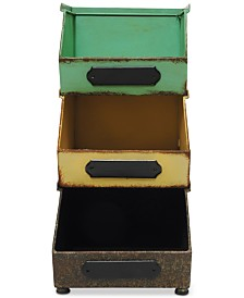 Metal Stacking Bins, Set of 3