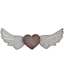 Heart & Wings Wood & Metal Wall Décor