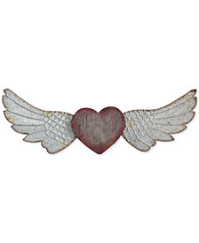 3R Studio Heart & Wings Wood & Metal Wall Décor