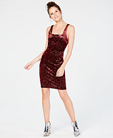 Sequin Hearts Juniors' Velvet Burnout Bodycon Dress
