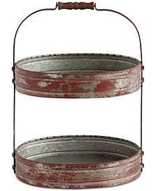 3R Studio Two-Tier Red Tray