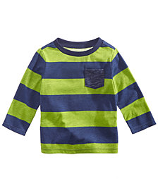 First Impressions Toddler Boys Striped Pocket T-Shirt, Created for Macy's