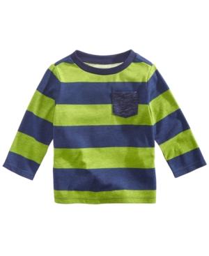 First Impressions Baby Boys Striped Pocket TShirt Created for Macys