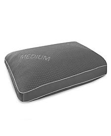 Memory Foam and Gel Fiber Density Pillow Medium for Back Sleepers