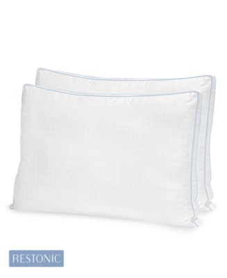 2 Pack TempaGel Max Cooling Gel Beads and Memory Fiber King Pillow