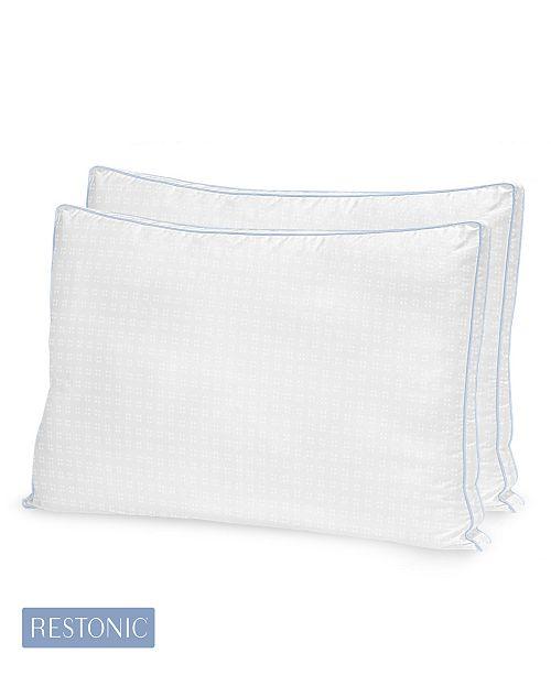 Restonic 2 Pack TempaGel Max Cooling Gel Beads and Memory Fiber King Pillow
