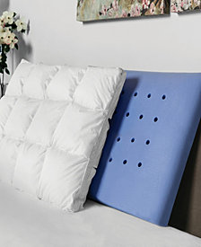 SensorPedic Hand Tufted Baffle Box Down Alternative and Memory Foam Pillow