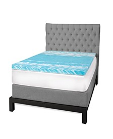 "3"" Gel Swirl Memory Foam King Mattress Topper"