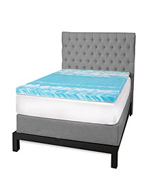 "SensorGel 3"" Gel Swirl Memory Foam Queen Mattress Topper"