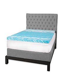 "SensorGel 3"" Gel Swirl Memory Foam Twin Mattress Topper"