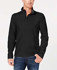 DKNY Men's Textured-Knit Quarter-Zip Shirt