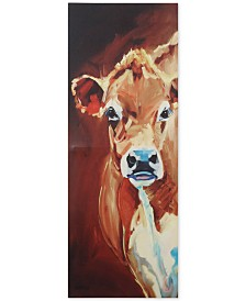 Canvas Wall Decor with Cow
