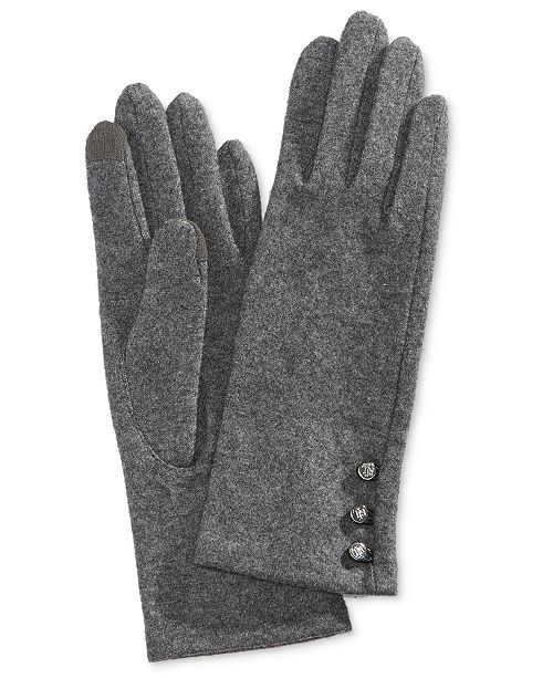 Lauren Ralph Lauren Logo-Button Touch Gloves - Handbags ... 16d6d81b8ee