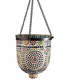 Two's Company Rio Lights MultiColor Mosaic Hanging Lantern