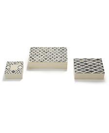 Two's Company Slate Bone Boxes - Set of 3