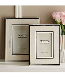 Border Lines Set of 2 Black and White Photo Frames Includes 2 Sizes