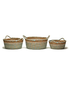 Two's Company Phuket Seagrass Baskets, Set of 3