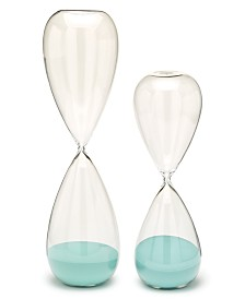 Two's Company Turquoise Sand Timers, Set of 2