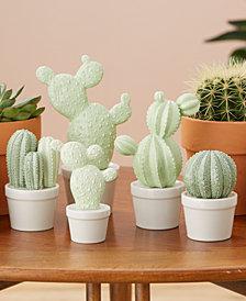 Set of 5 Cactus Décor Sculptures Includes 5 Sizes, Designs