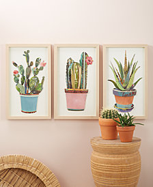 Cactus Set of 3 Paper Collage Wall Art