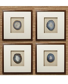 Two's Company Geode Wall Art, Set of 4