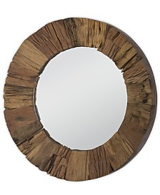 Concave Reclaimed Wood Mirror, Quick Ship