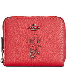 COACH Minnie Mouse Motif Small Boxed Zip-Around Wallet