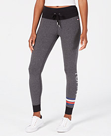 Tommy Hilfiger Sport Logo Drawstring-Waist Leggings, Created for Macy's